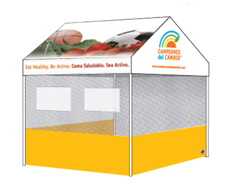 Food Service NEOP Tent Plain Back